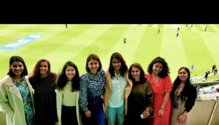 Anushka Sharma, Sanjana Ganesan lead wives and girlfriends cheer squad at the Oval