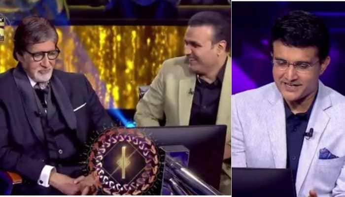 KBC 13 promo: Amitabh Bachchan finds himself in hotseat, gets quizzed by Sourav Ganguly! - Watch