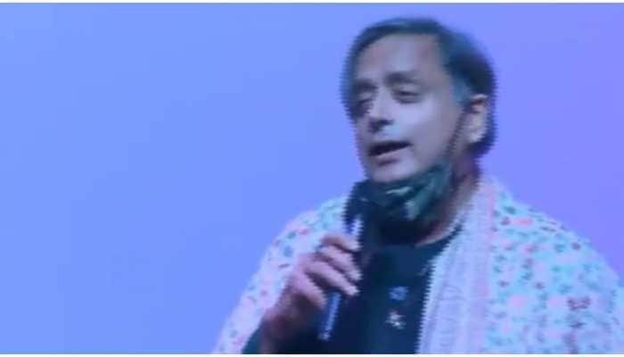 Shashi Tharoor sings 'Ek Ajnabee Haseena Se' in 'Oxford accent'-Watch viral video
