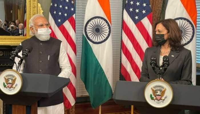 India, US natural partners with similar values, geopolitical interests: PM Modi tells VP Kamala Harris | India News | Zee News