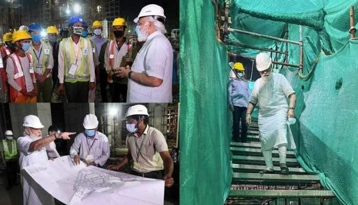 PM Narendra Modi visits Central Vista project construction site - See pics