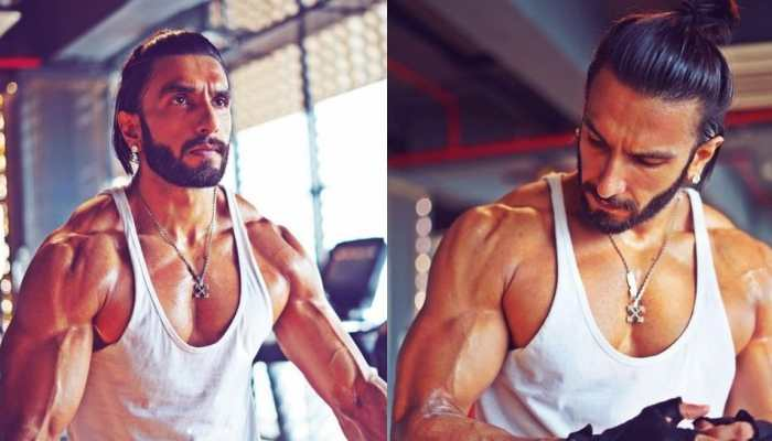 Ranveer Singh flexes his muscles at gym with his diamonds on – See pics!