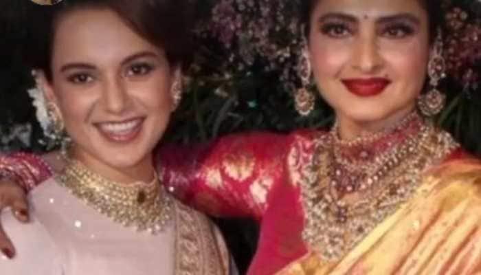 Rekha birthday: Kangana Ranaut wishes her 'godmother', shares their sari-clad picture!