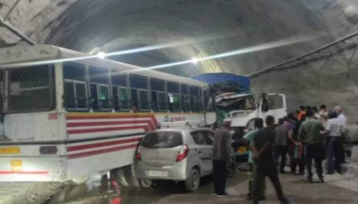 Himachal Pradesh: One dead, 14 wounded in bus-truck collision inside Aut tunnel