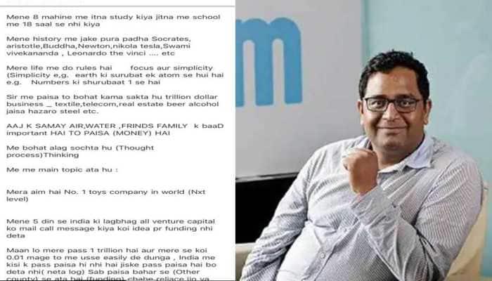 'Ladke main jazba toh hai': Paytm CEO shares hilarious 'investment' mail, netizens love the confidence
