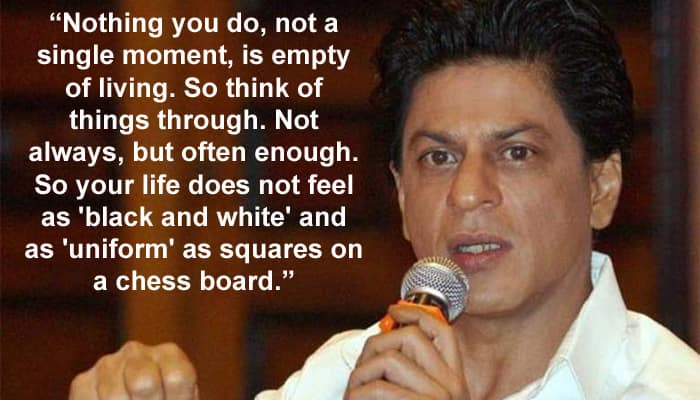 Inspirational 10 Brilliant Quotes From Shah Rukh Khan S Graduation